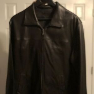 Soft Brown Leather Mens Jacket Size Large